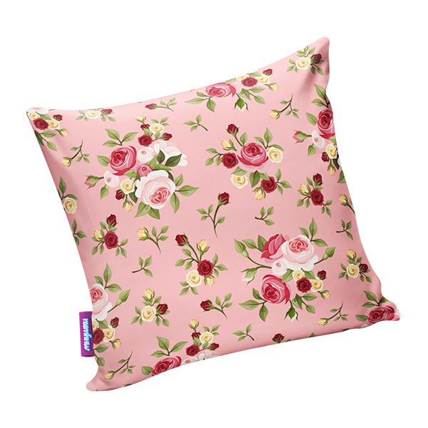 Подушка нежные цветы розовый