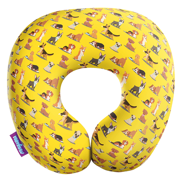 Игрушка-подушка Собачий вальс Желтый р. 29х29Подушки антистресс<br><br><br>Тип: Игрушка-подушка<br>Размер: 29х29<br>Материал: Трикотаж