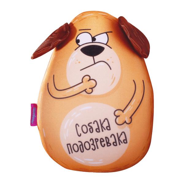 Игрушка-подушка Собака Подозревака р. 30х21Подушки антистресс<br><br><br>Тип: Игрушка-подушка<br>Размер: 30х21<br>Материал: Трикотаж
