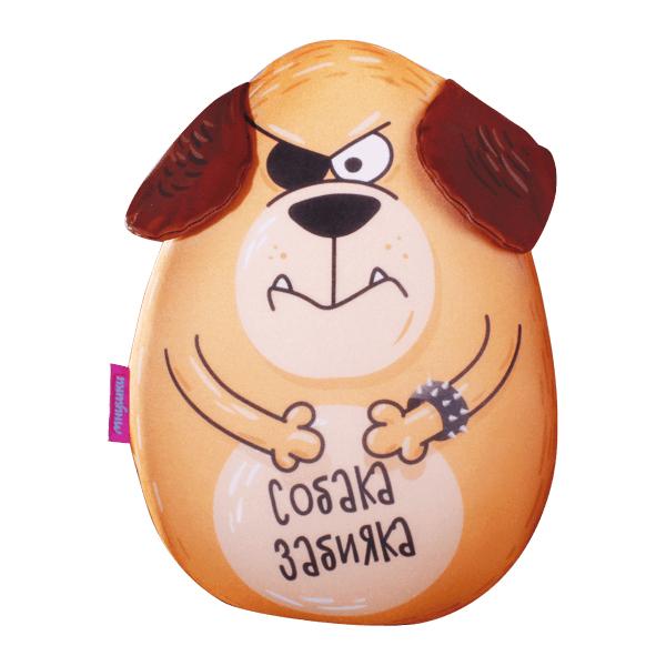 Игрушка-подушка Собака Забияка р. 30х21Подушки антистресс<br><br><br>Тип: Игрушка-подушка<br>Размер: 30х21<br>Материал: Трикотаж