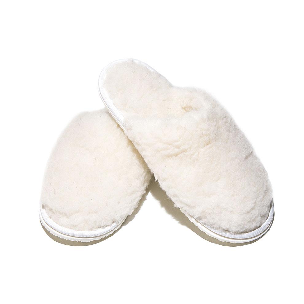 Обувь Тапочки Домашнее тепло Эконом Белый р. 40-41Для комфортного сна, отдыха и работы<br><br><br>Тип: Обувь<br>Размер: 40-41<br>Материал: Овечья шерсть