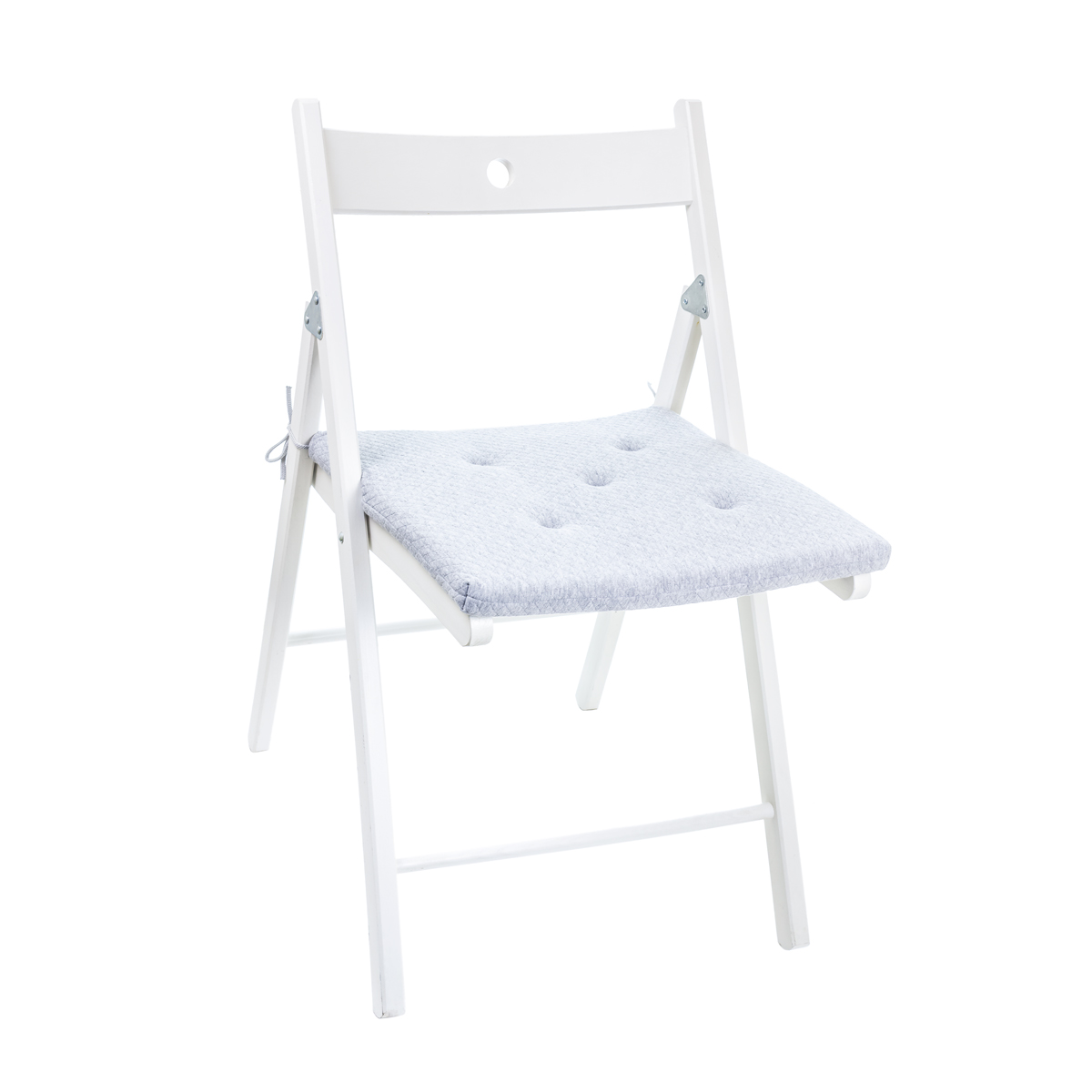 Подушка на стул люкс серый р.