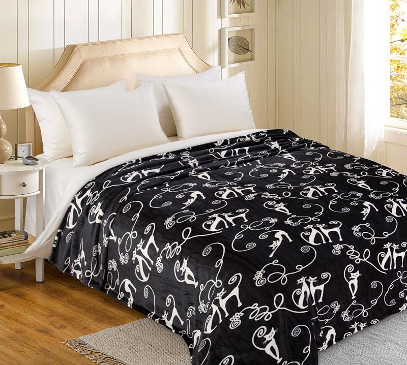 Плед  Кошки   р. 200х240 - Текстиль для дома артикул: 34620