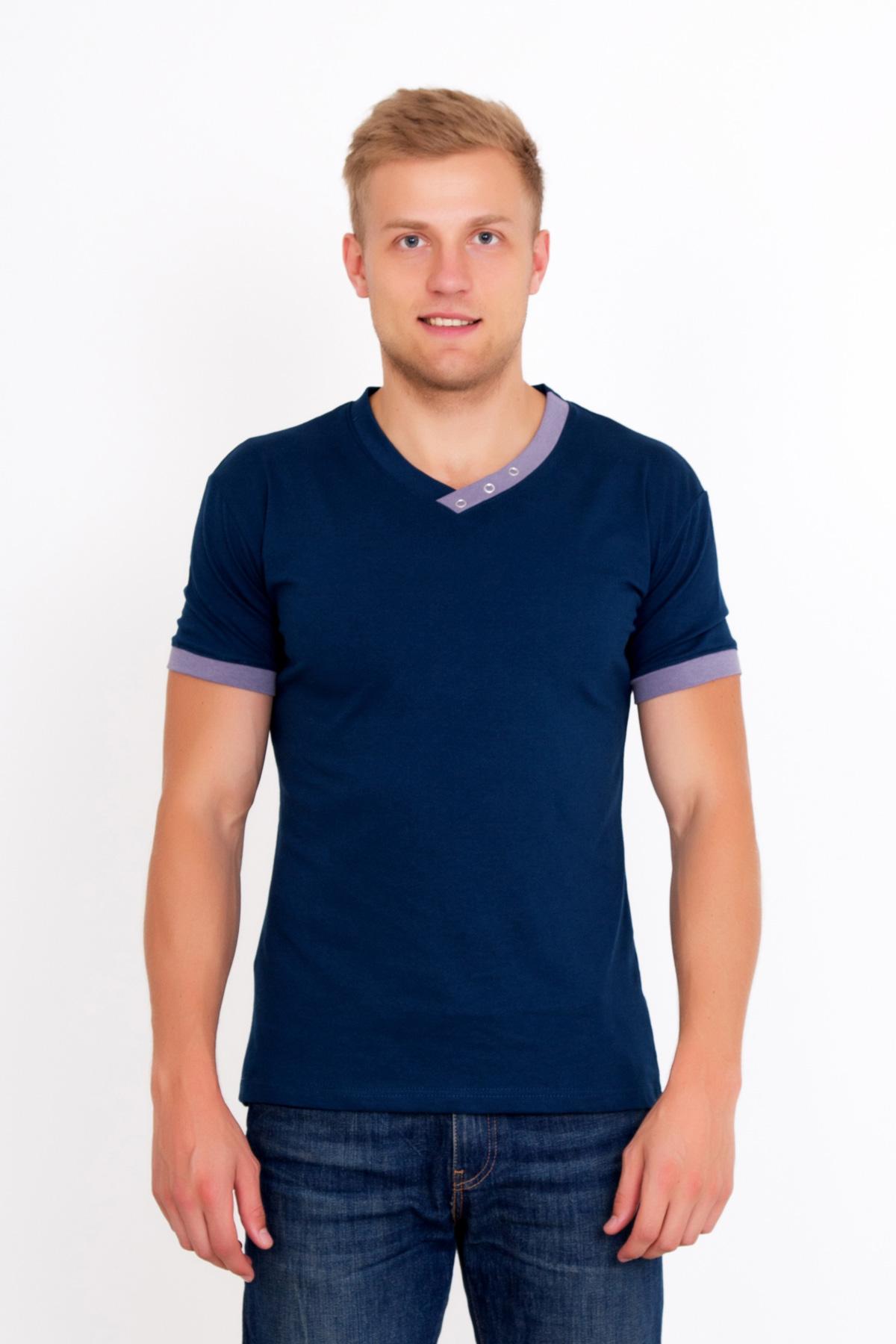 Муж. футболка  Давид Синий  р. 58 - Мужская одежда артикул: 18984