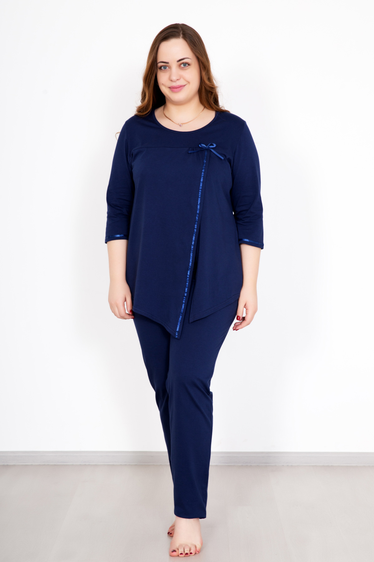 Жен. костюм  Катарина  Синий р. 60 - Текстиль для здоровья артикул: 33442