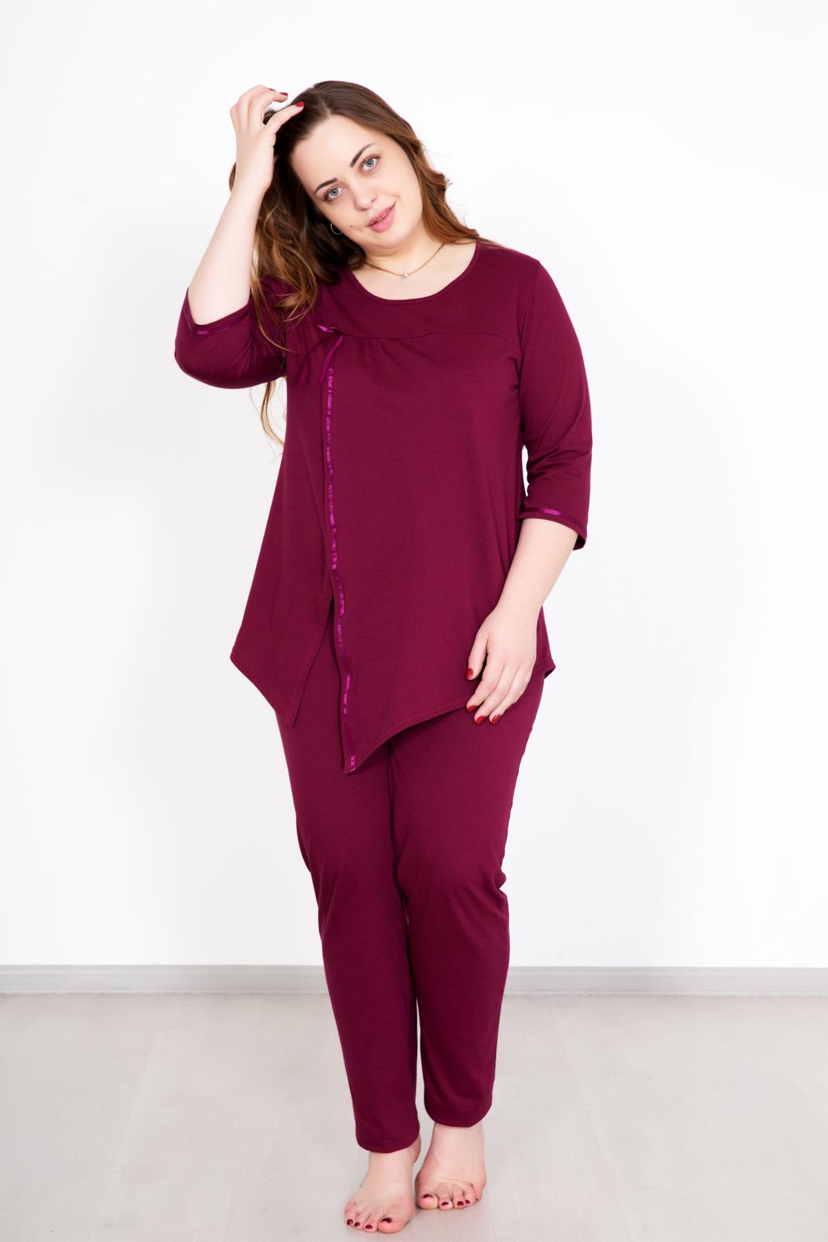 Жен. костюм  Катарина  Бордо р. 58 - Текстиль для здоровья артикул: 33435