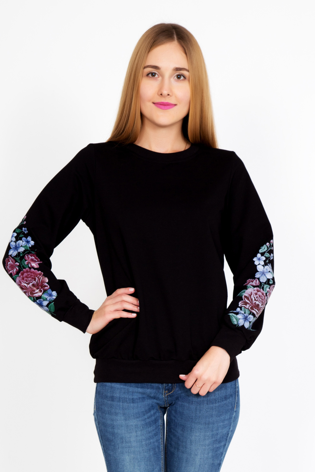 Жен. толстовка  Роза  р. 52 - Женская одежда артикул: 33226