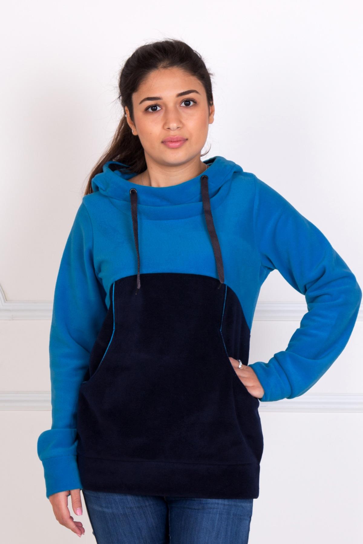 Жен. толстовка  Свитшот  Голубой р. 54 - Женская одежда артикул: 33221