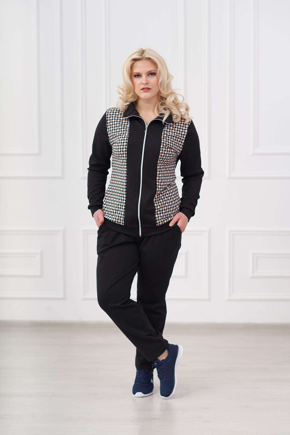 Жен. костюм арт. 19-0008 Черный р. 54