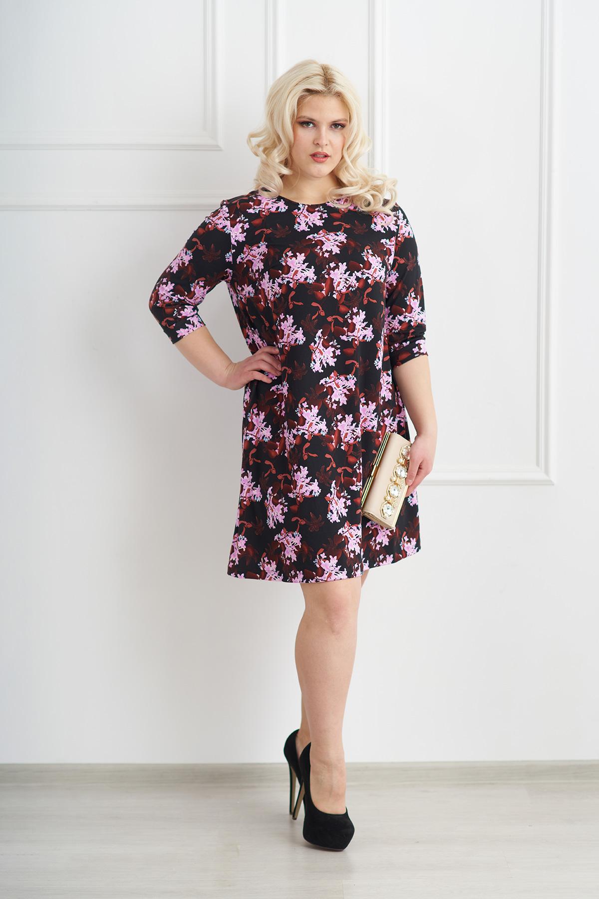 Жен. платье арт. 19-0072 Шоколадный р. 52Платья<br>Факт. ОГ: 108 см <br>Факт. ОТ: 122 см <br>Факт. ОБ: 136 см <br>Длина по спинке: 94 см<br><br>Тип: Жен. платье<br>Размер: 52<br>Материал: Трикотажное полотно