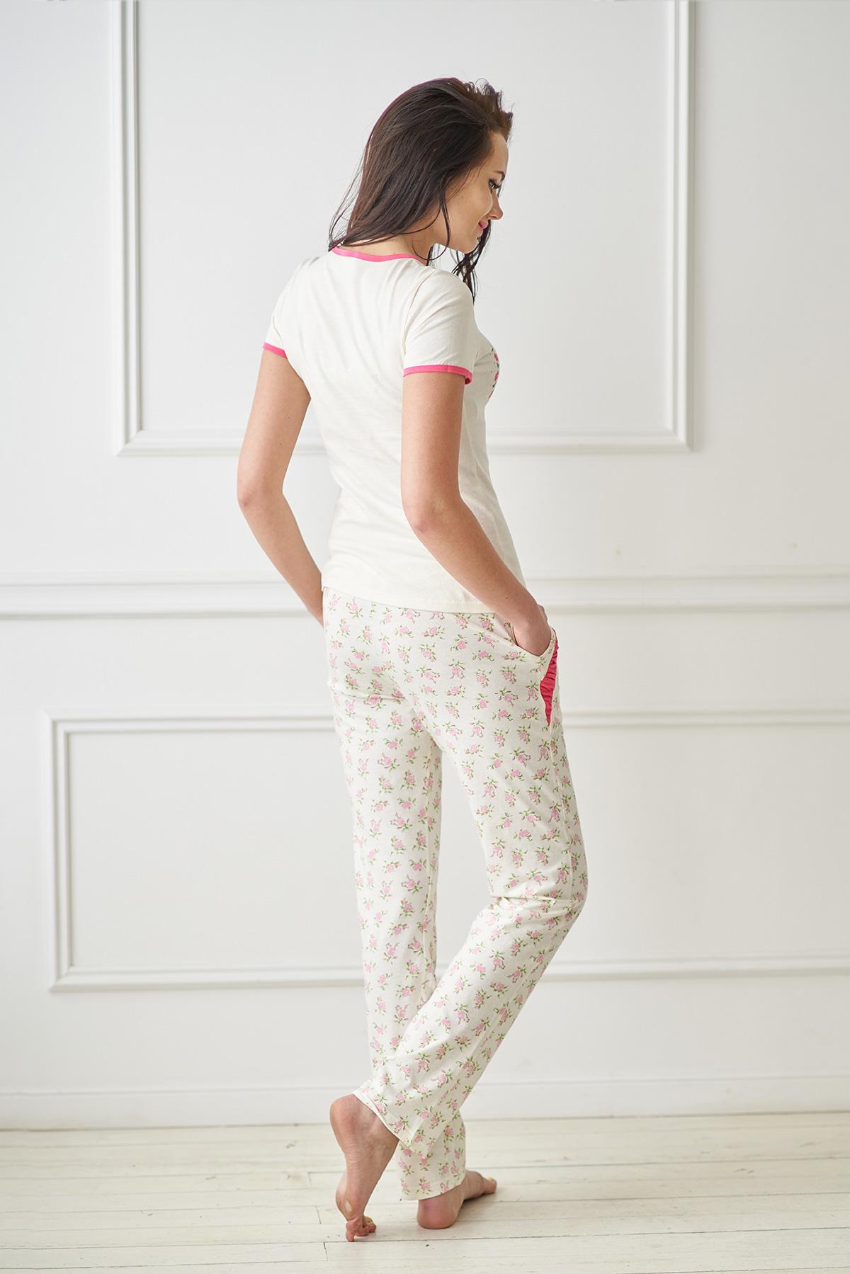 Жен. пижама арт. 19-0084 кремовый р.