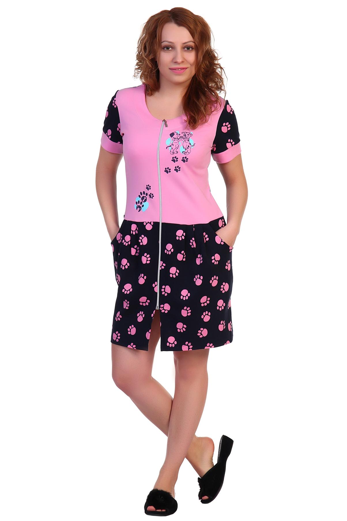 Жен. халат арт. 16-0298 Розовый р. 54 - Женская одежда артикул: 34187