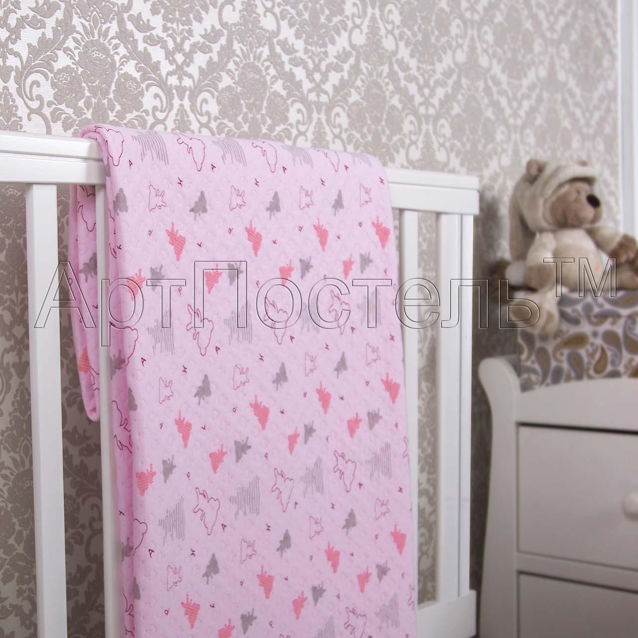 Покрывало  Мишки-малышки  Розовый р. 140х200 - Текстиль для дома артикул: 33963