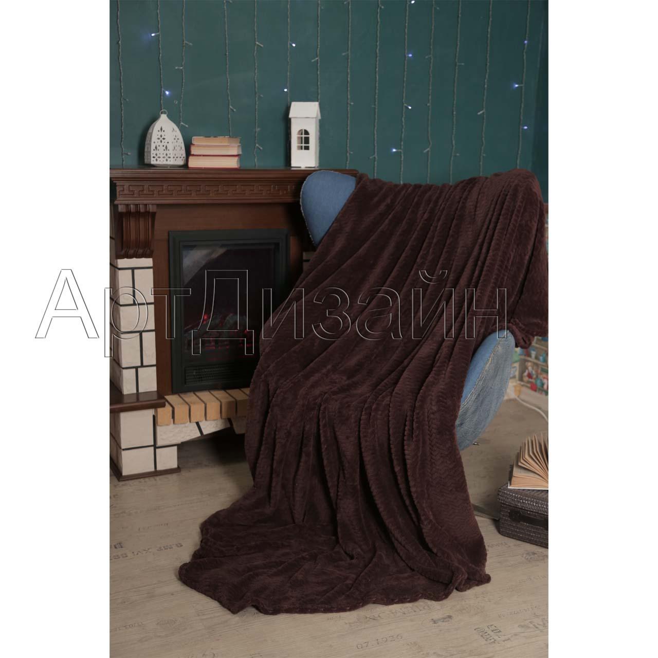Плед  Роскошь  Шоколад р. 200х220 - Текстиль для дома артикул: 34000