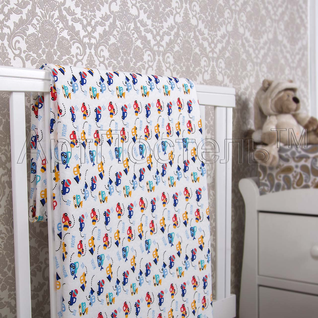 Покрывало  Забавные машинки  р. 140х200 - Текстиль для дома артикул: 33981