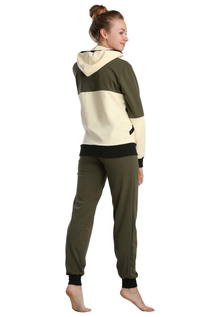 Жен. костюм арт. 16-0233 хаки р. 64