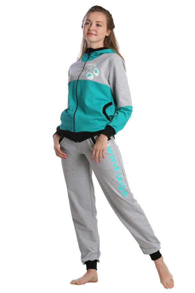Жен. костюм арт. 16-0231 Зеленый р. 60Костюмы<br><br><br>Тип: Жен. костюм<br>Размер: 60<br>Материал: Футер