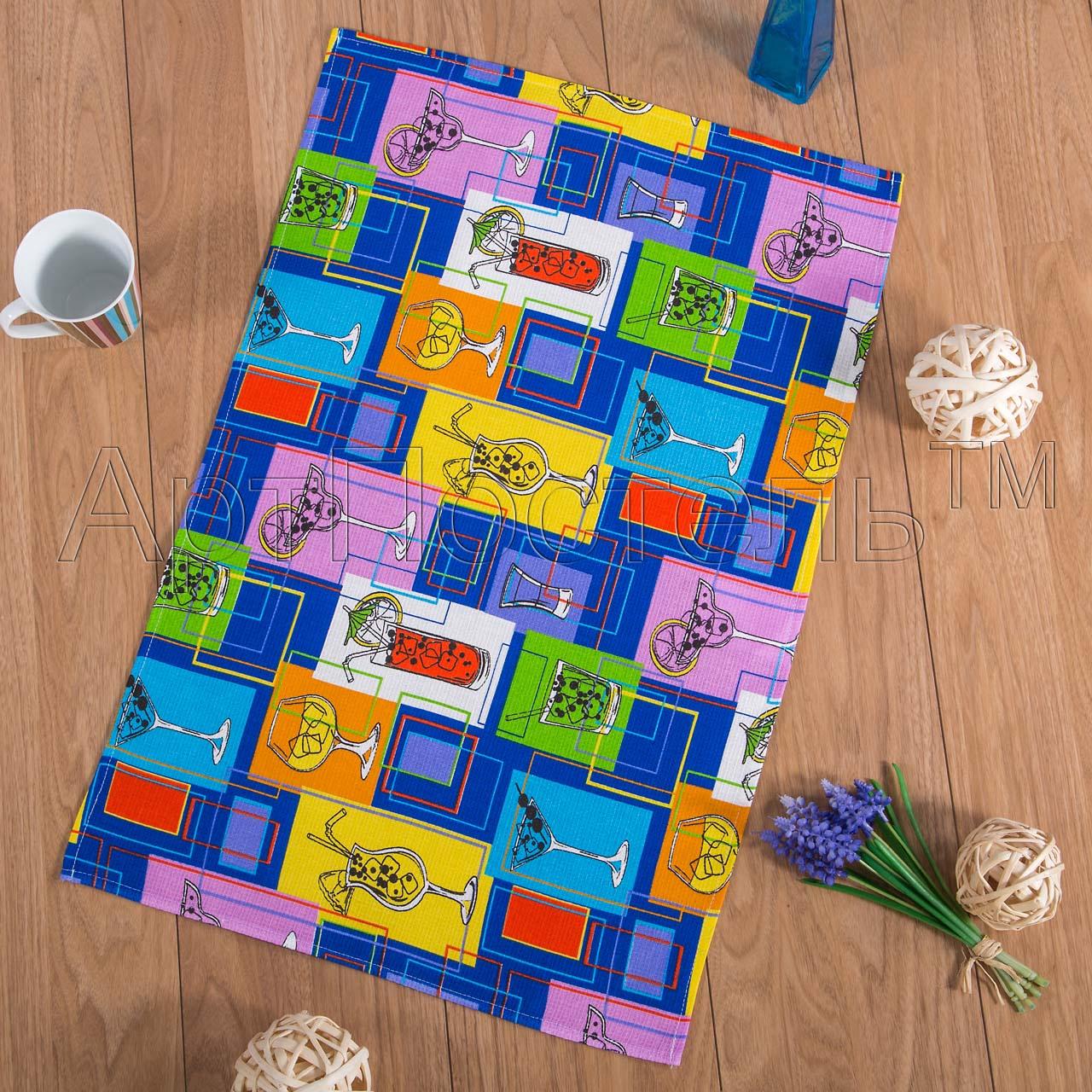Вафельное полотенце Лимонад р. 50х70Вафельные полотенца<br>Плотность: 160 г/кв. м<br><br>Тип: Вафельное полотенце<br>Размер: 50х70<br>Материал: Вафельное полотно