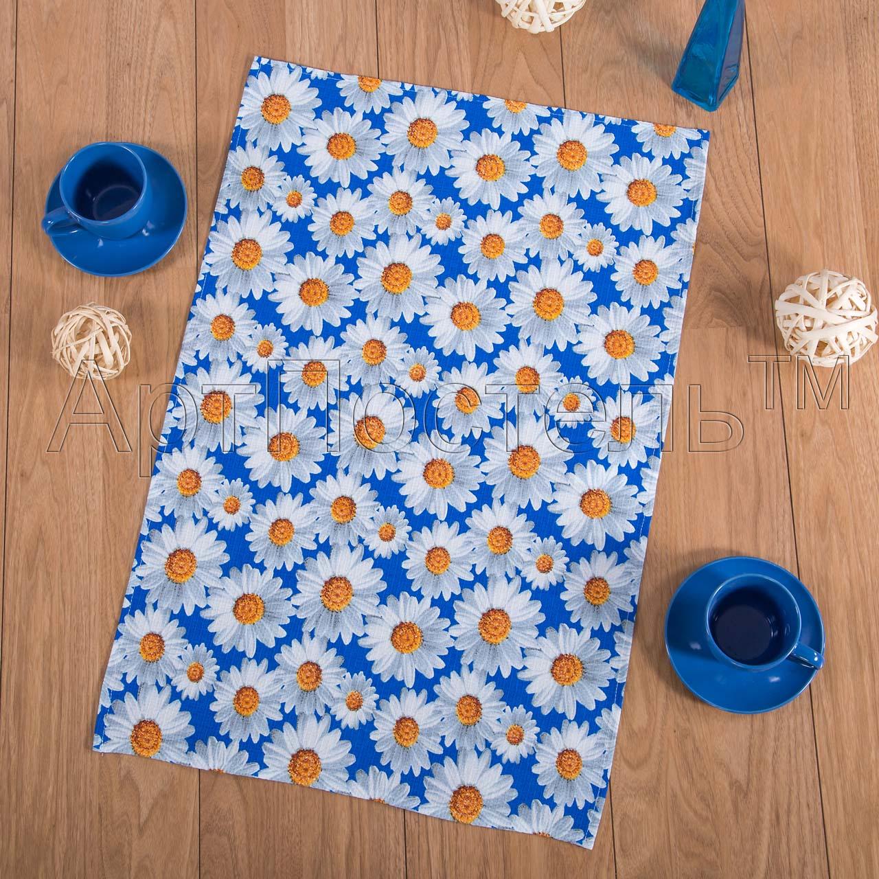Вафельное полотенце ромашки р. 80х150