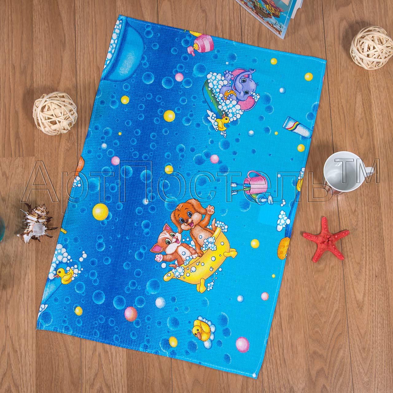 Вафельное полотенце Водные забавы р. 80х150Вафельные полотенца<br>Плотность: 160 г/кв. м<br><br>Тип: Вафельное полотенце<br>Размер: 80х150<br>Материал: Вафельное полотно