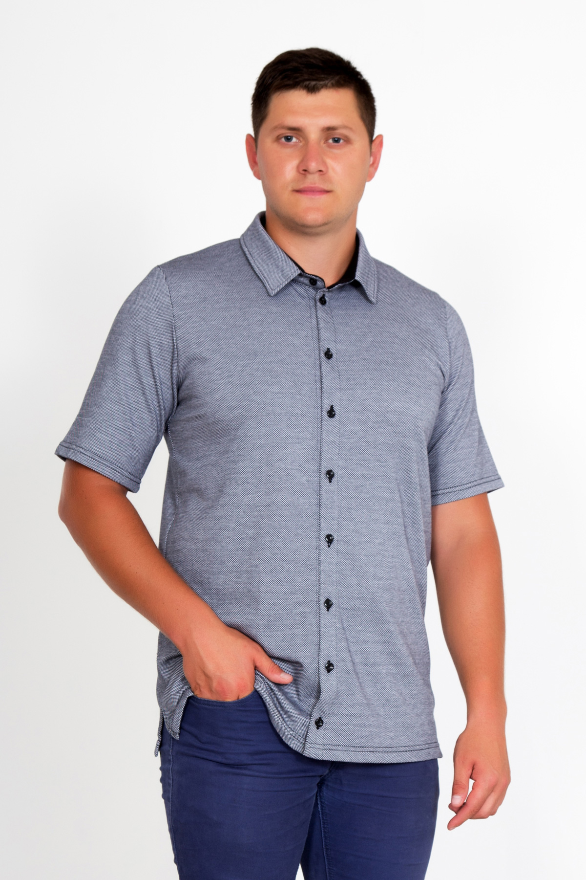 Муж. рубашка Аскольд р. 68Рубашки<br><br><br>Тип: Муж. рубашка<br>Размер: 68<br>Материал: Трикотаж