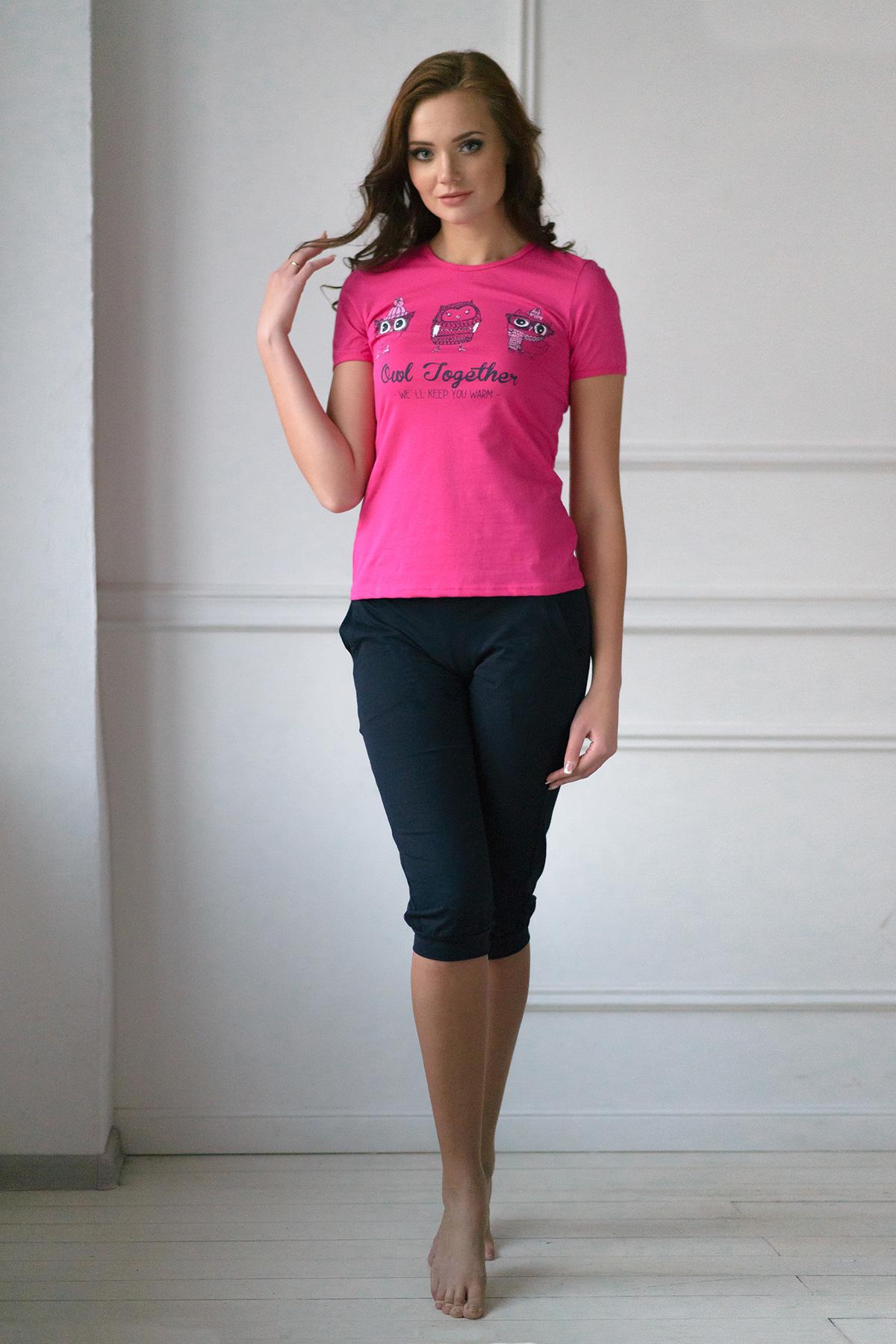 Жен. костюм арт. 19-0100 Малина р. 52Костюмы<br><br><br>Тип: Жен. костюм<br>Размер: 52<br>Материал: Кулирка