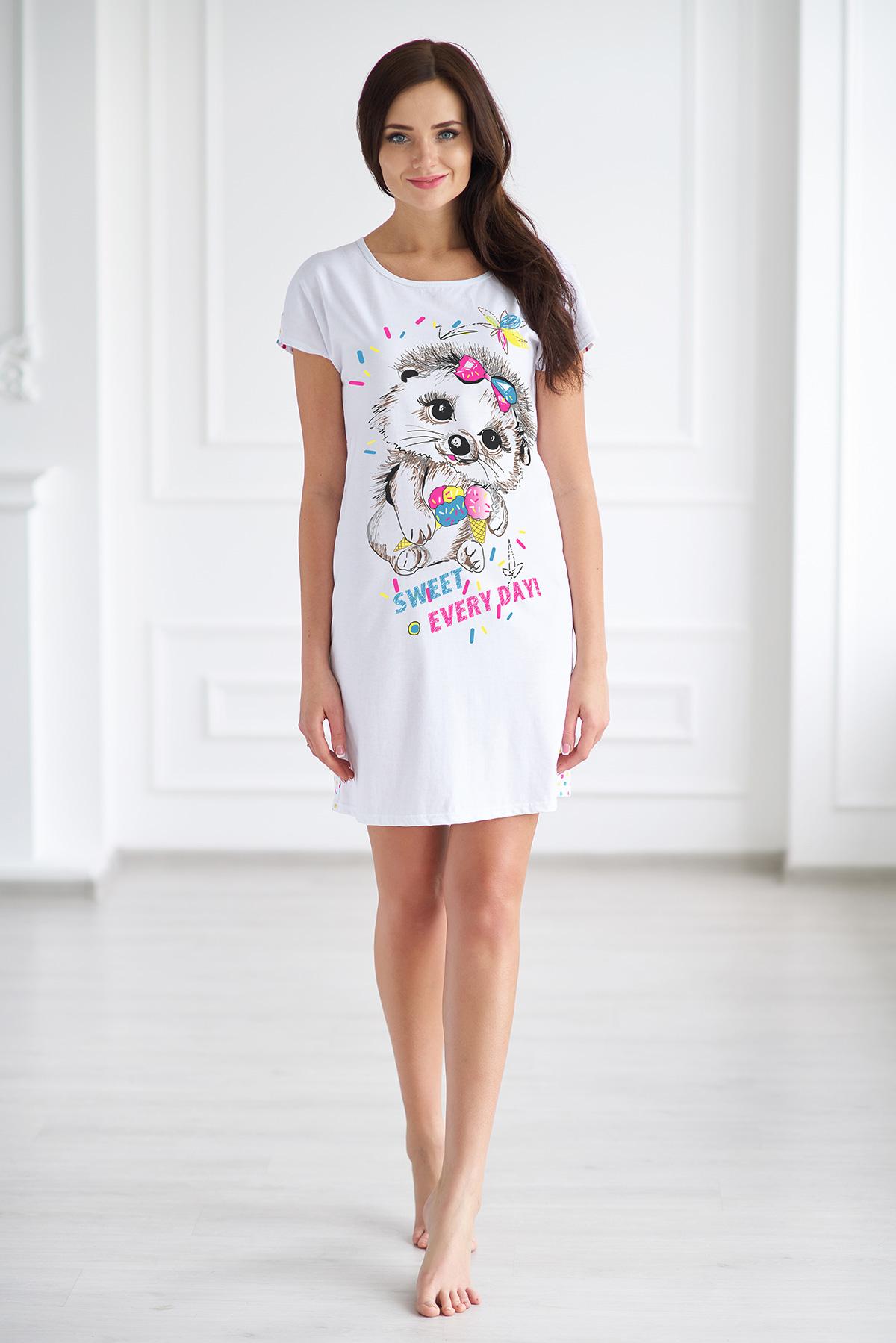 Жен. футболка арт. 19-0117 р. 48Майки и футболки<br><br><br>Тип: Жен. футболка<br>Размер: 48<br>Материал: -
