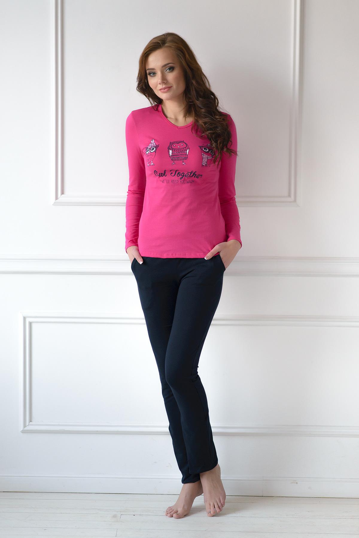 Жен. костюм арт. 19-0125 Малиновый р. 44Костюмы<br><br><br>Тип: Жен. костюм<br>Размер: 44<br>Материал: Трикотаж