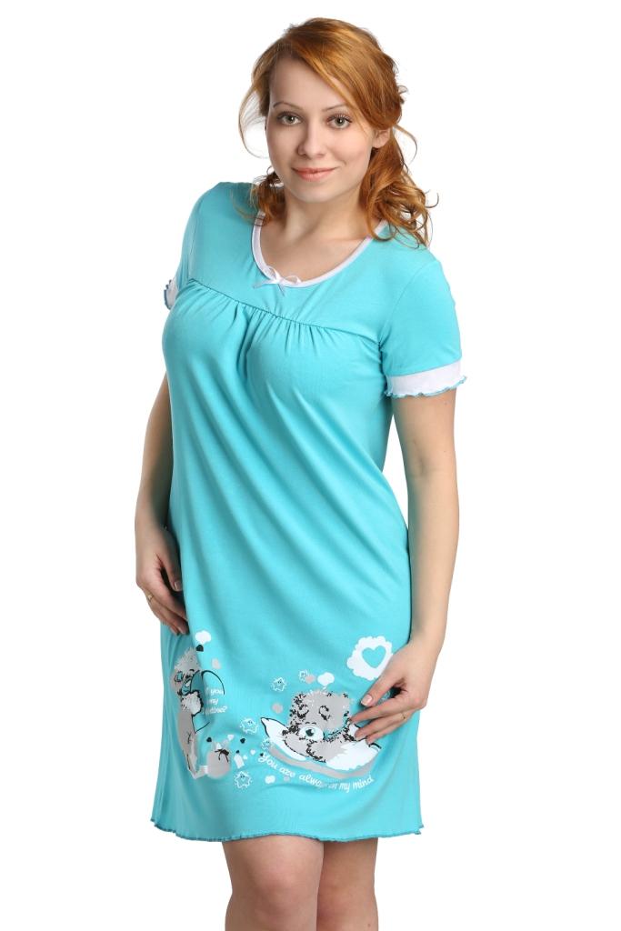 Жен. сорочка Сладких снов Ментол р. 44Ночные сорочки<br><br><br>Тип: Жен. сорочка<br>Размер: 44<br>Материал: Вискоза