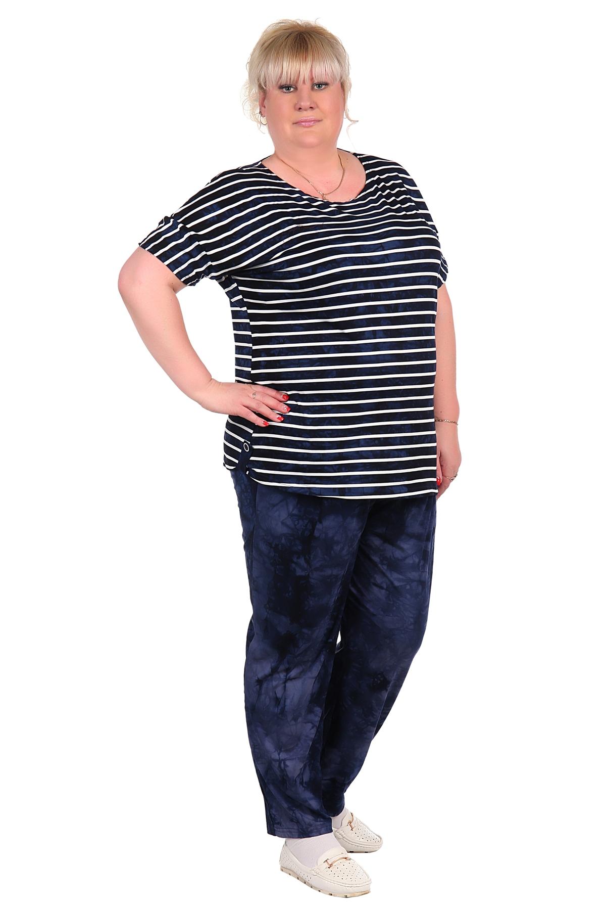Жен. костюм арт. 16-0018 Темно-синий р. 60 блузы