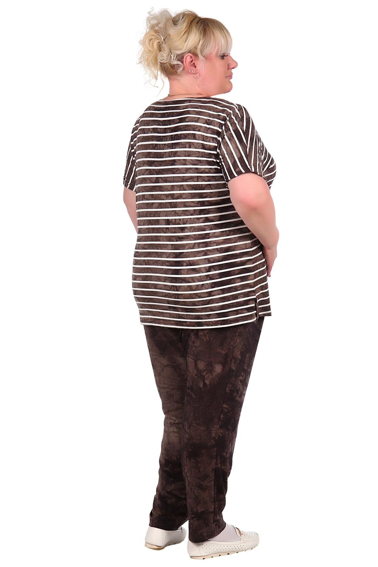 Жен. костюм арт. 16-0018 коричневый р.