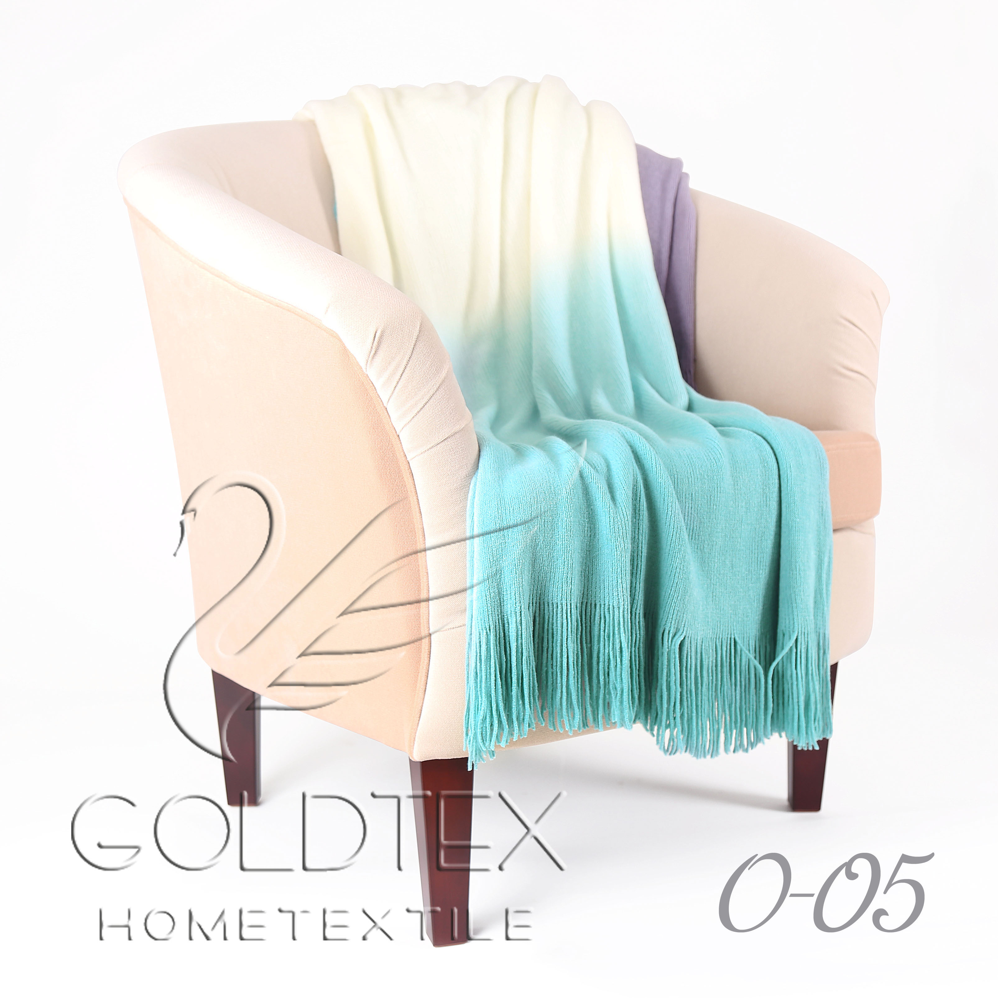 "Плед ""Gentle"" Голубой р. 150х200 — Gentle Голубой"