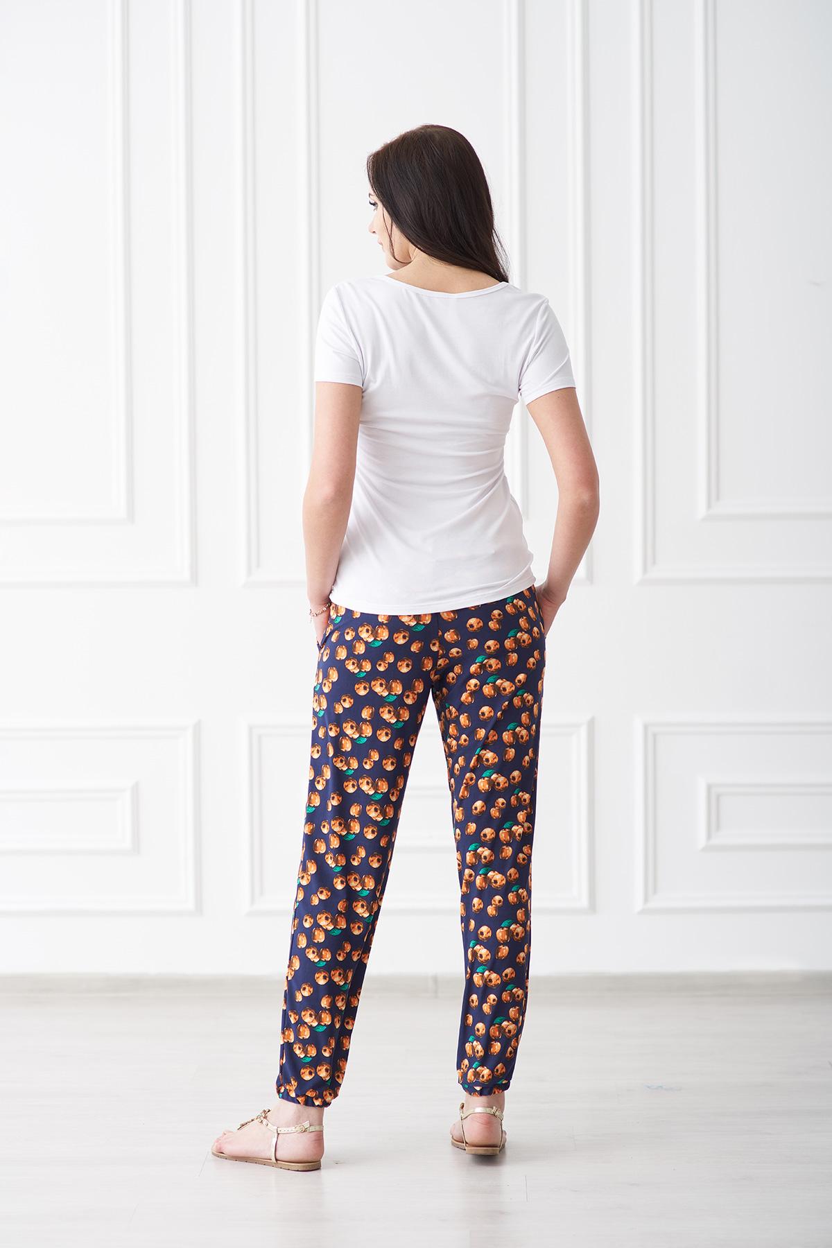 Жен. брюки арт. 19-0092 яблоки р. 52