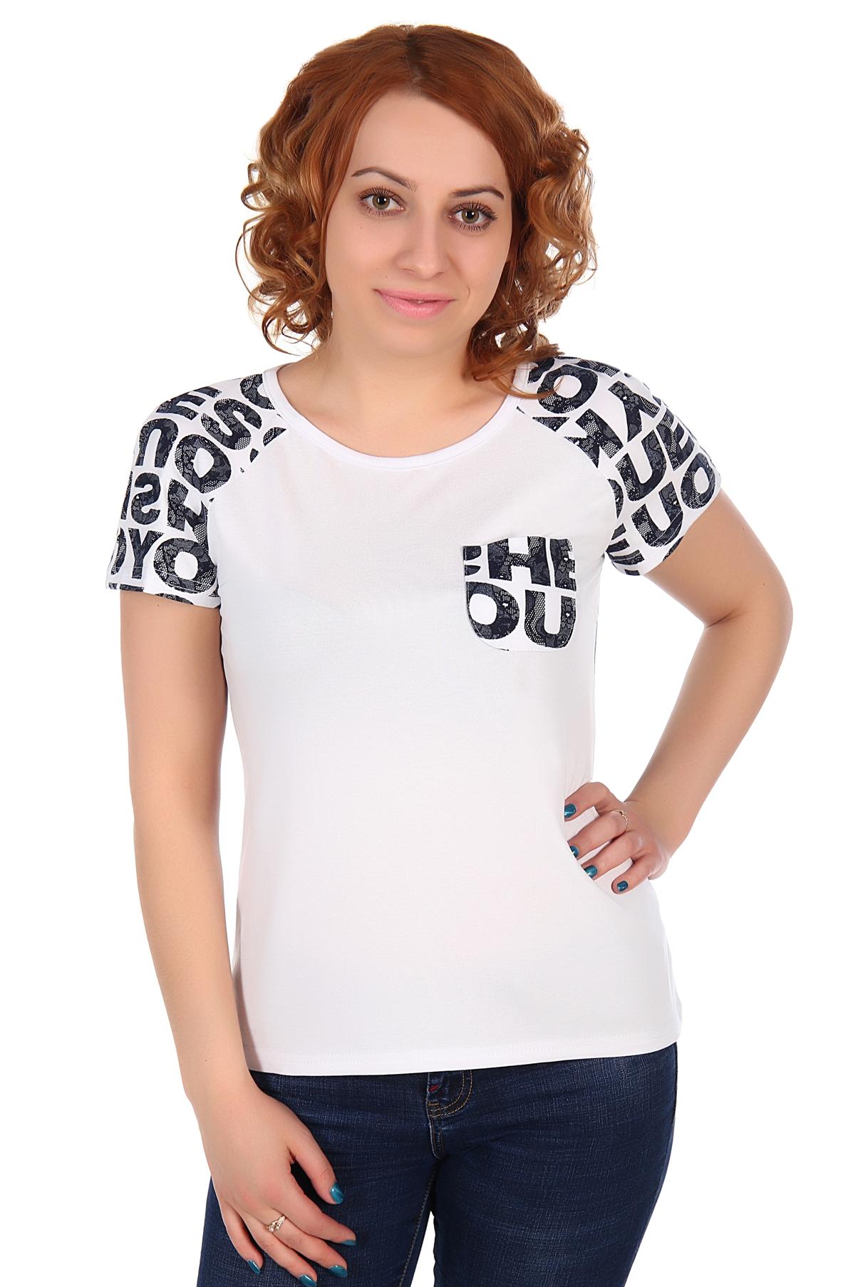 Жен. футболка арт. 16-0310 Белый р. 52 футболка on 94 63 2014 nw4a e7310 1388