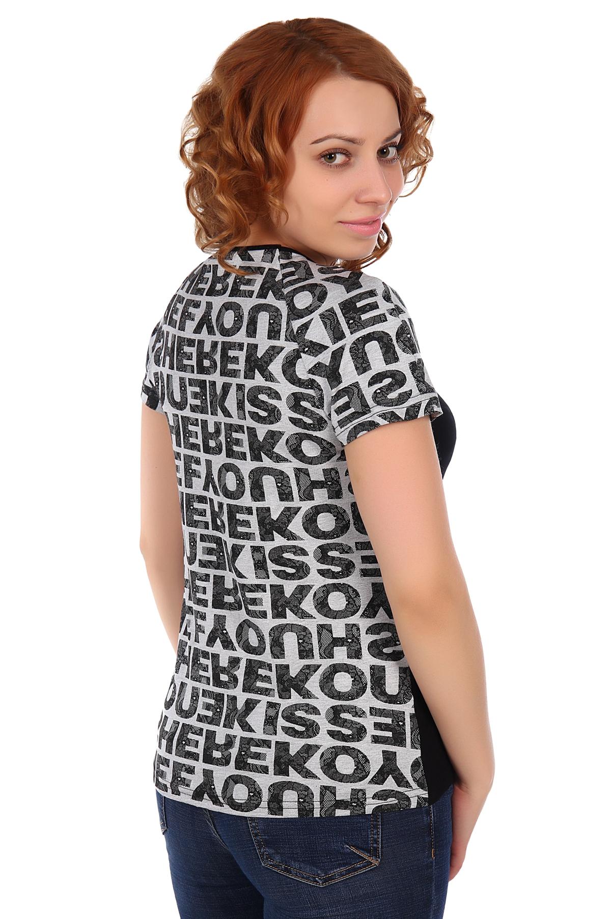 Жен. футболка арт. 16-0310 черный р. 46