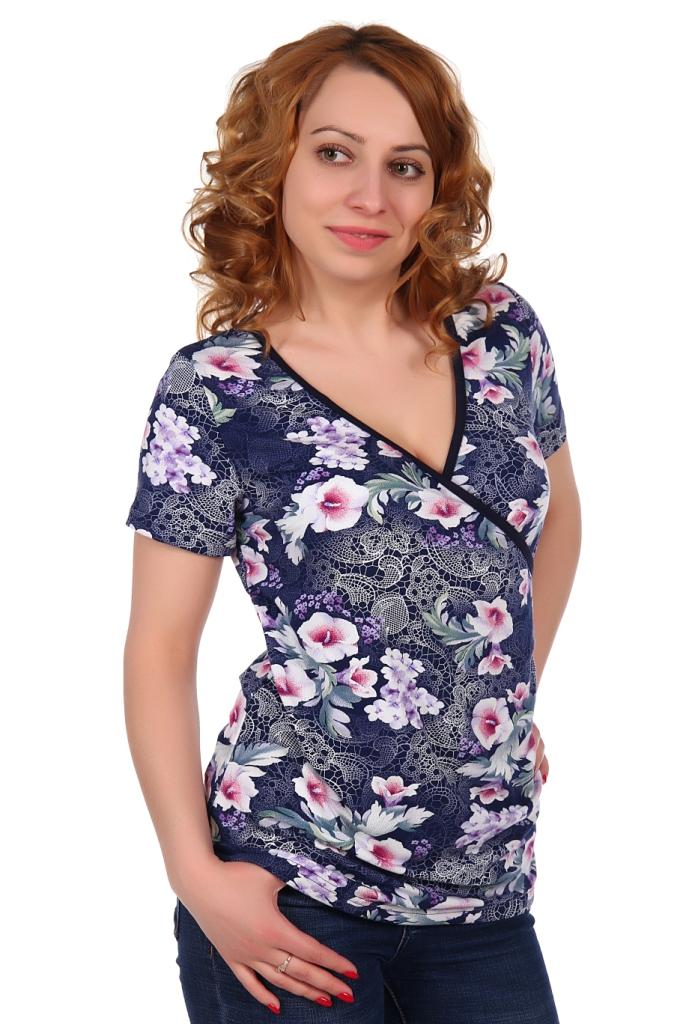 Жен. блуза арт. 16-0319 Темно-синий р. 48 жен блуза арт 16 0133 васильковый р 44