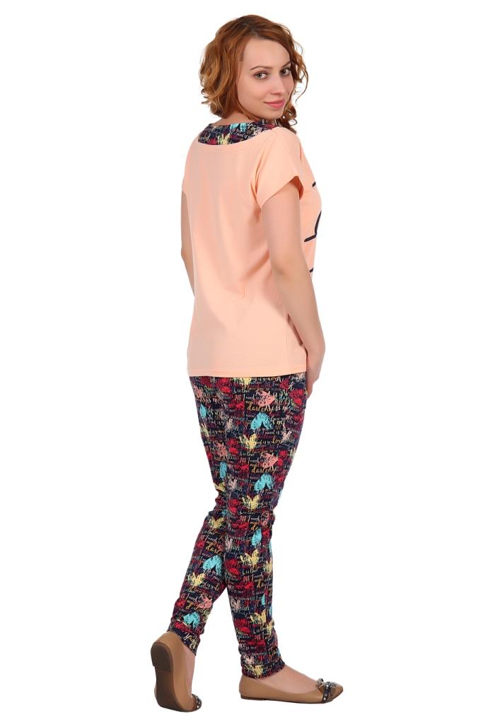 Жен. костюм арт. 16-0322 персиковый р. 46