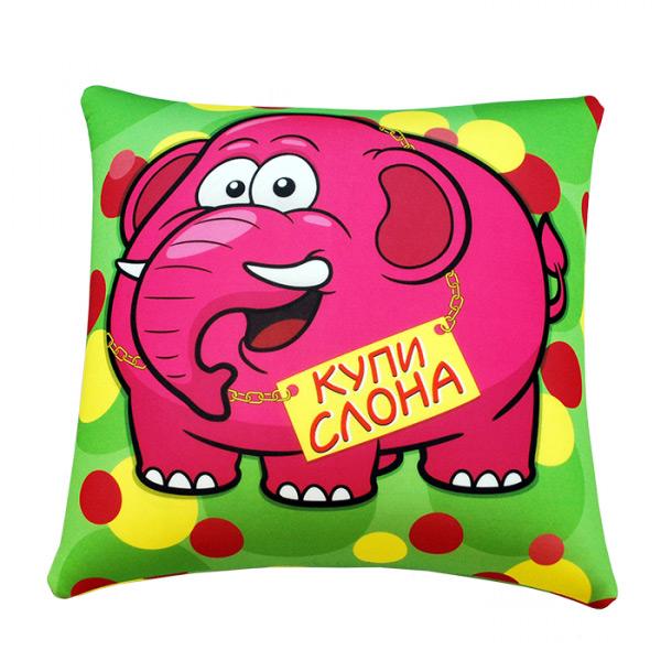 """Подушка """"Купи слона"""" р. 35х35"""