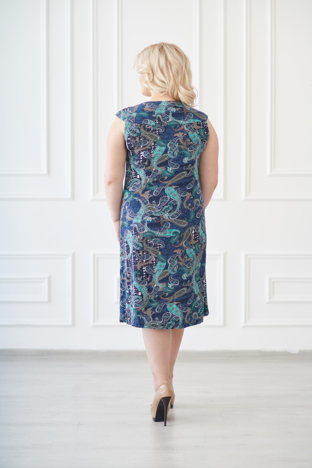 Жен. платье арт. 19-0138 огурцы р. 50