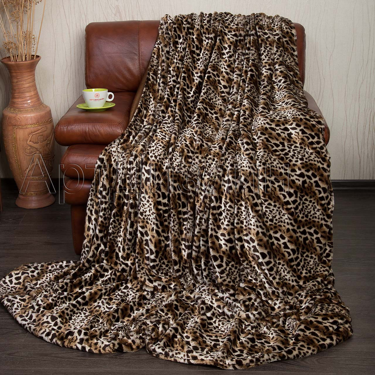 """Плед """"Леопард"""" р. 160х220 — Леопард"""