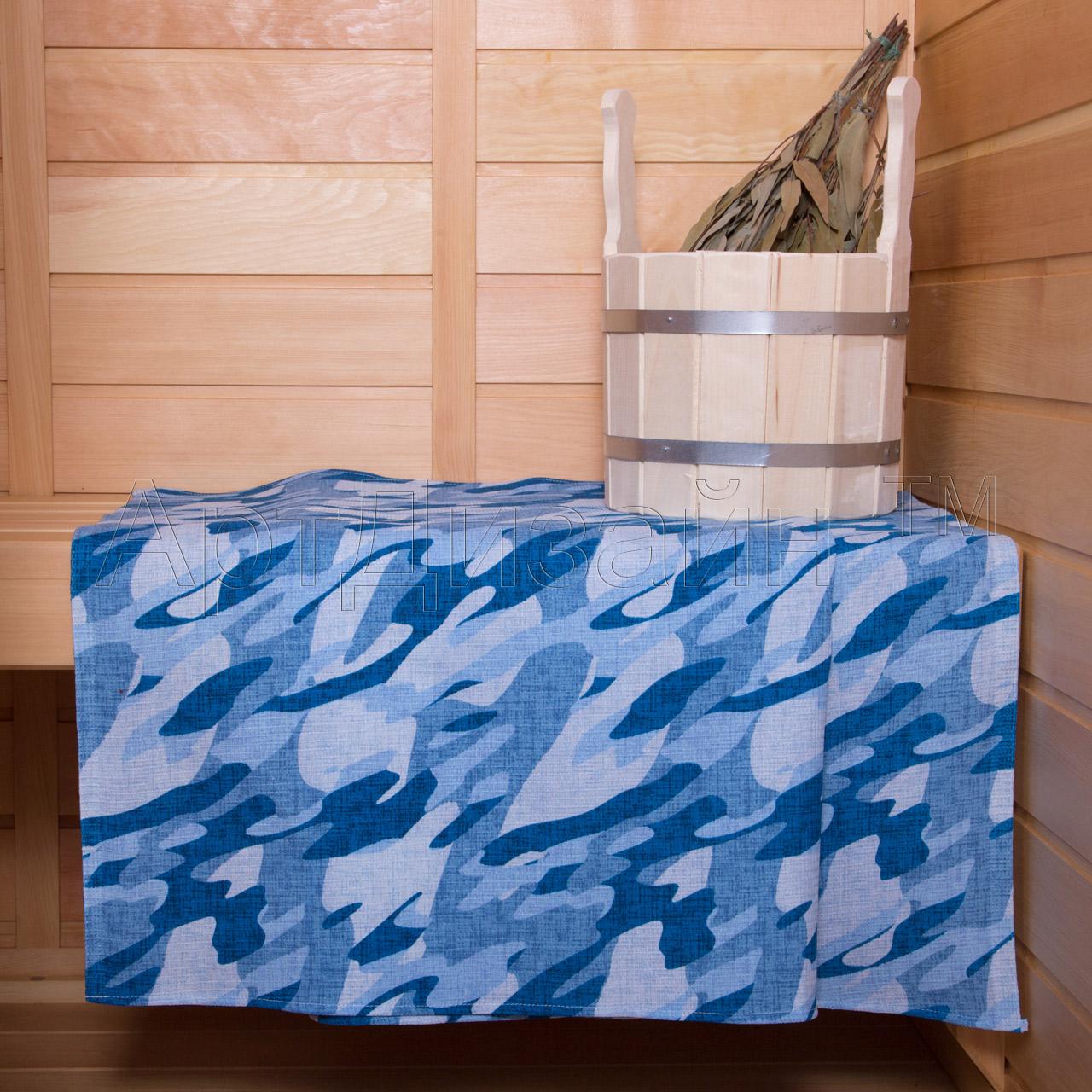 Вафельное полотенце Камуфляж Синий р. 80х150Полотенца вафельные<br>Плотность: 160 г/кв. м<br><br>Тип: Вафельное полотенце<br>Размер: 80х150<br>Материал: Вафельное полотно