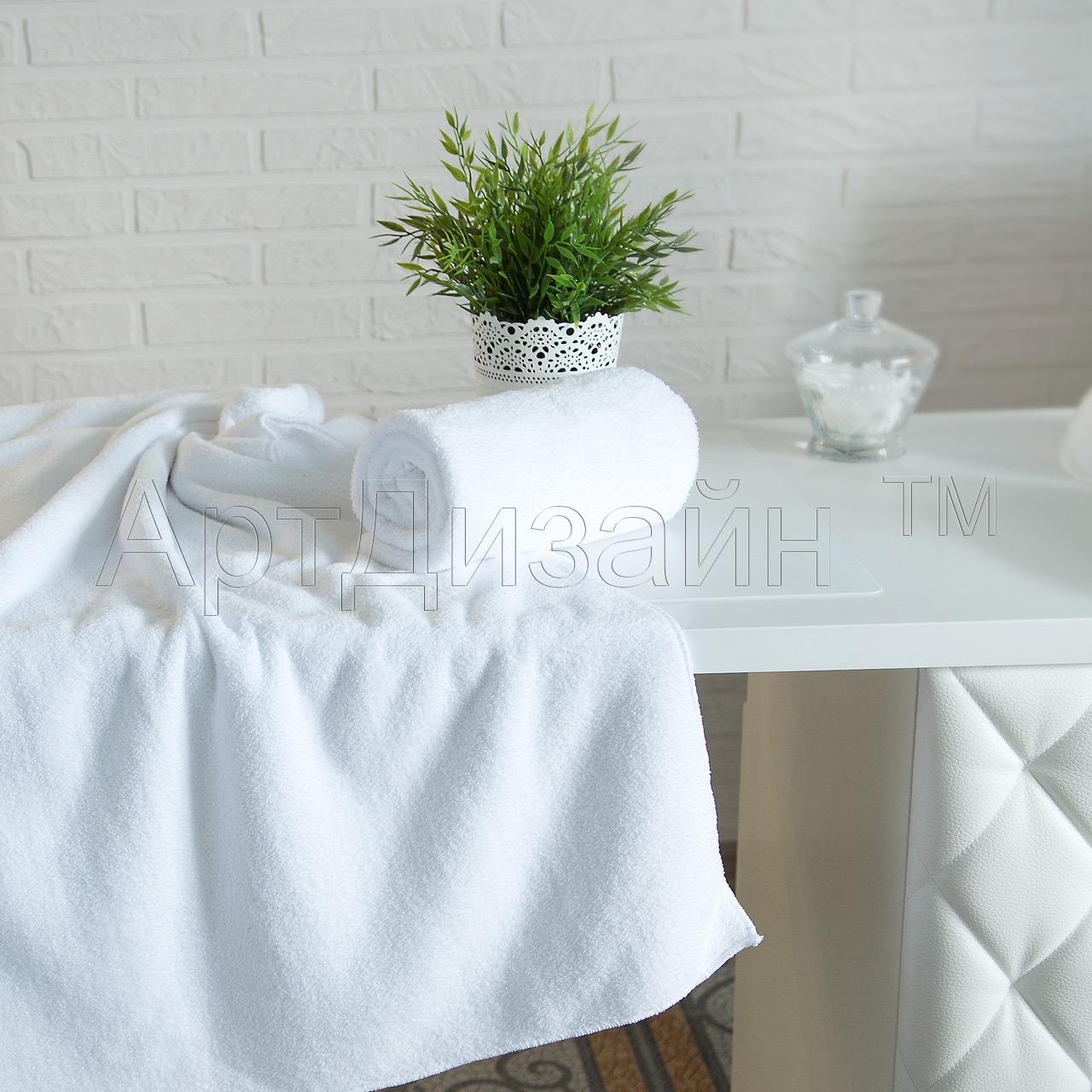 Полотенце Уют Белый р. 65х140Полотенца<br><br><br>Тип: Полотенце<br>Размер: 65х140<br>Материал: Велсофт