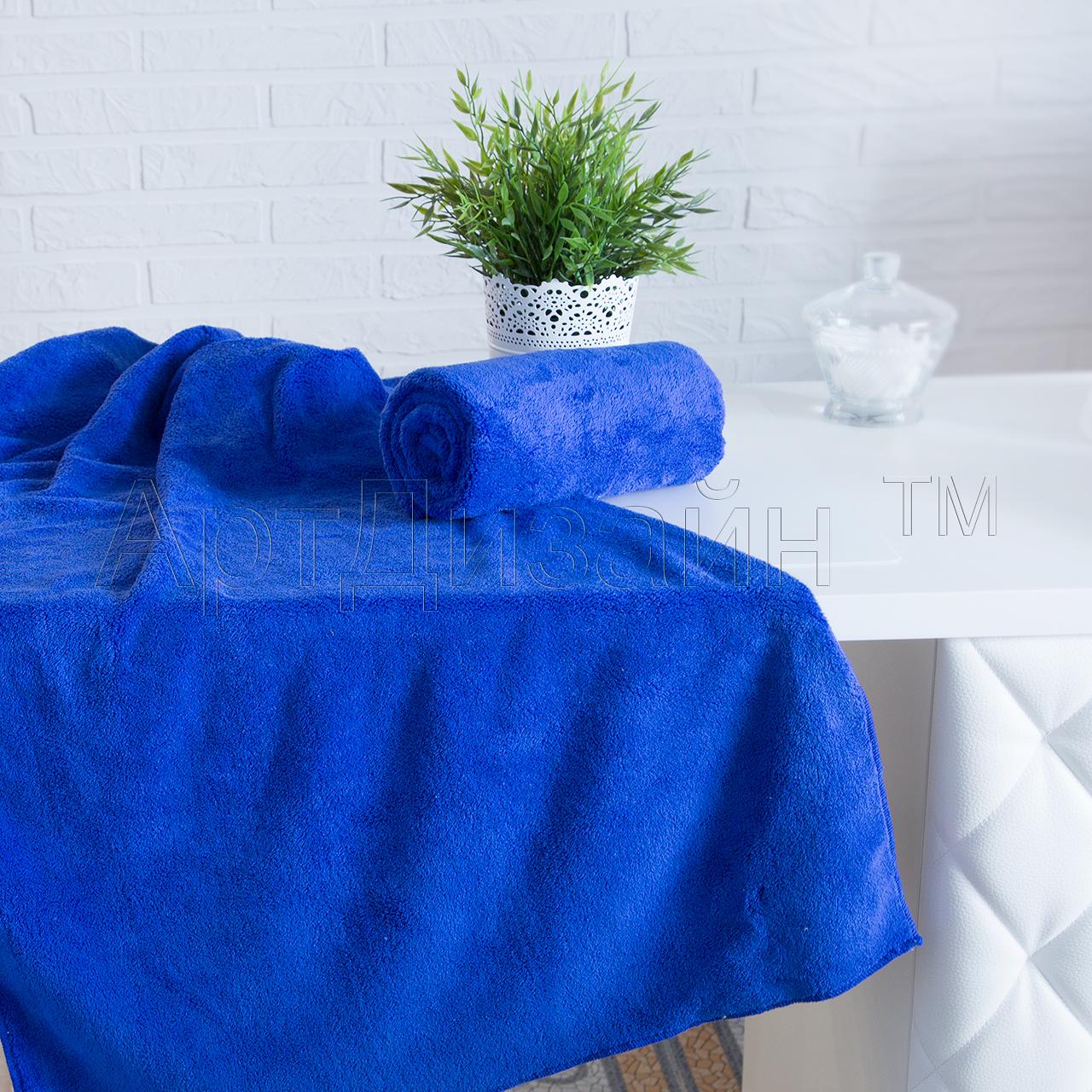 Полотенце Уют Синий р. 50х90Полотенца<br><br><br>Тип: Полотенце<br>Размер: 50х90<br>Материал: Велсофт
