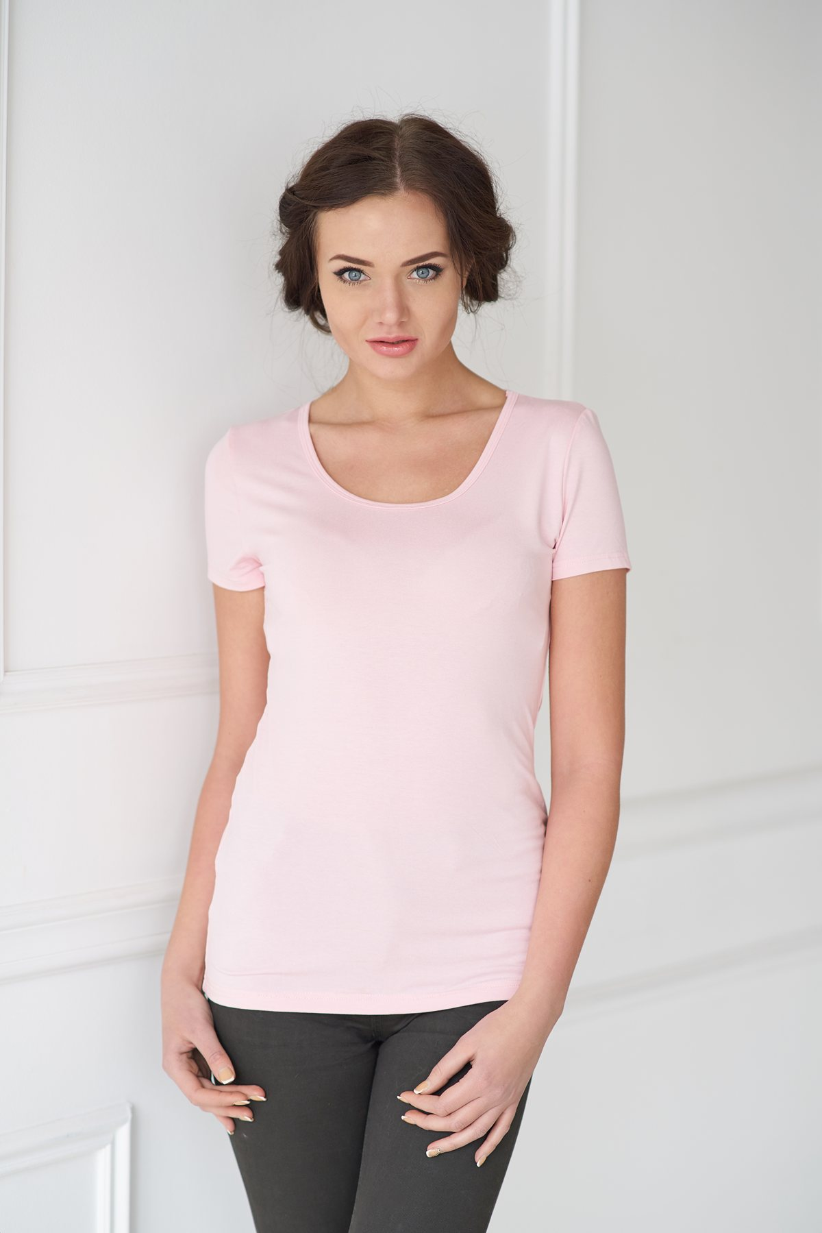 Жен. футболка арт. 19-0033 розовый р.