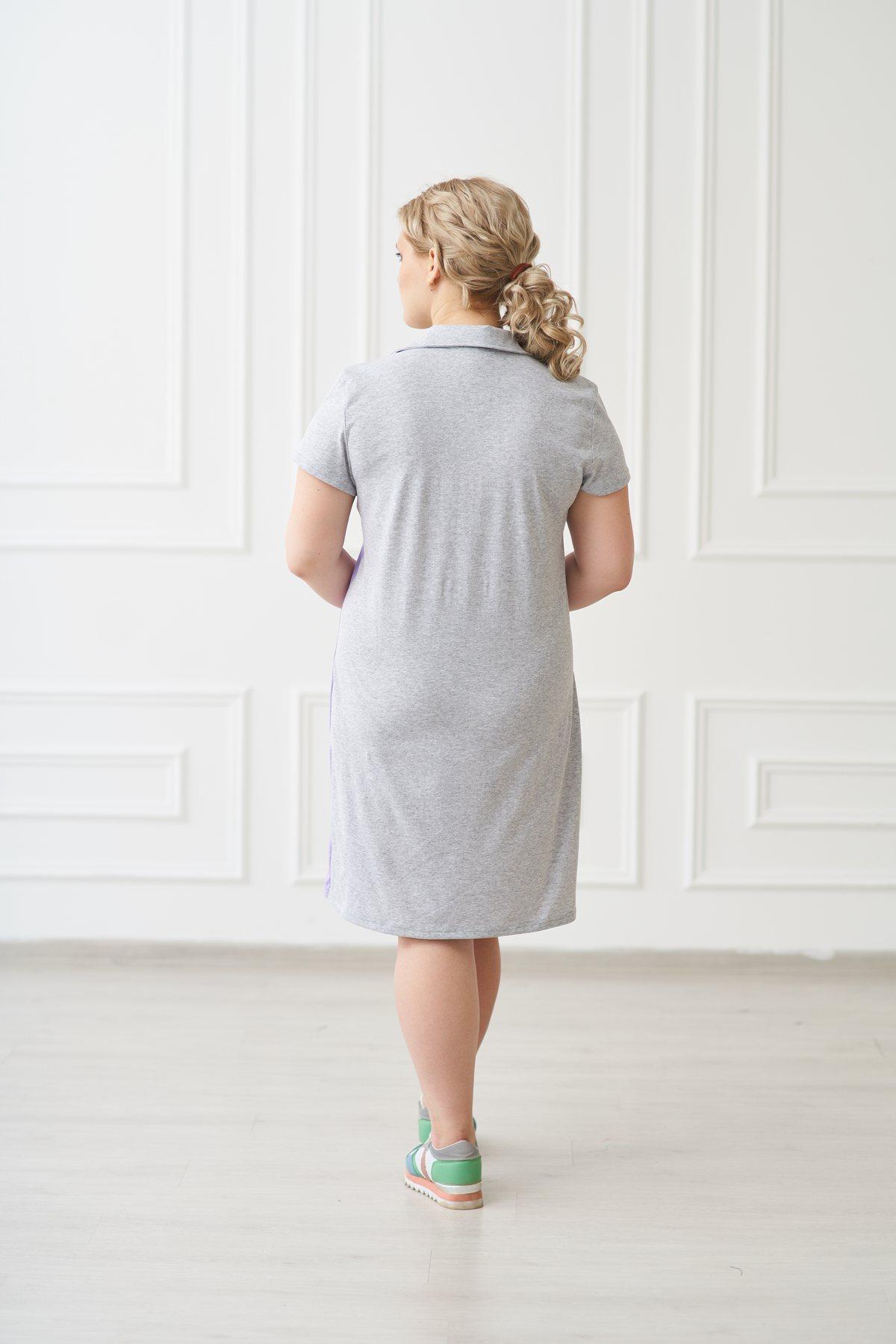 Жен. платье арт. 19-0157 сирень р. 48