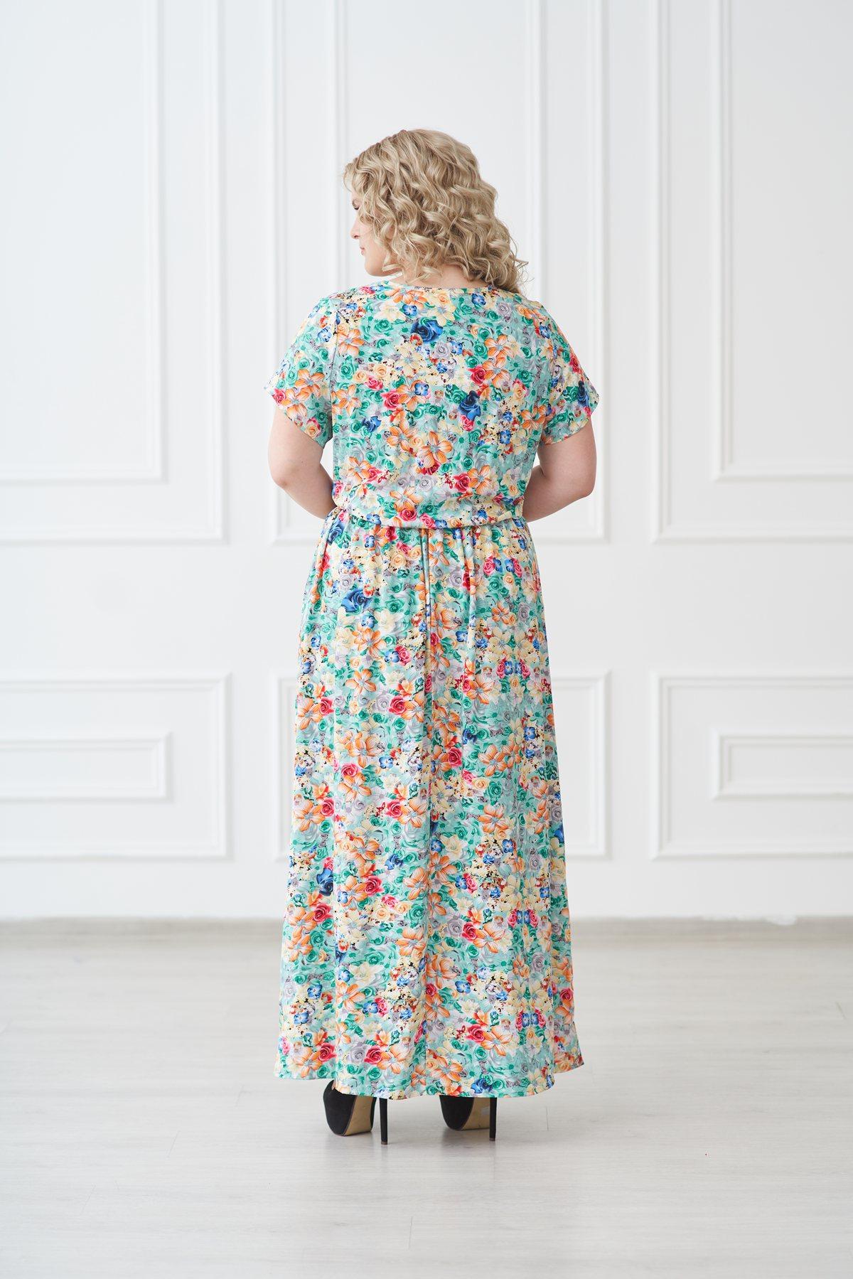 Жен. платье арт. 19-0140 ментол р. 46