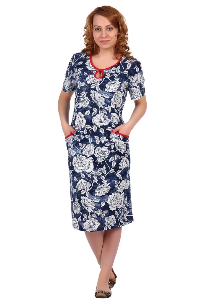 Жен. платье арт. 16-0343 р. 52Платья<br>Факт. ОГ: 108 см <br>Факт. ОТ: 102 см <br>Факт. ОБ: 112 см <br>Длина по спинке: 107 см<br><br>Тип: Жен. платье<br>Размер: 52<br>Материал: Кулирка