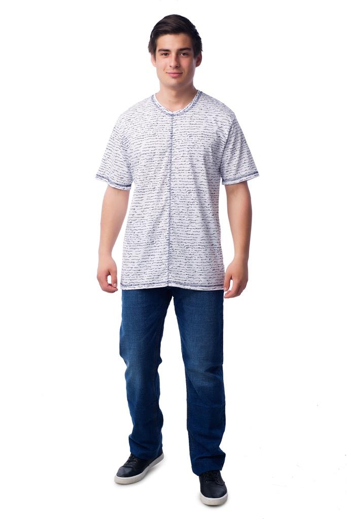 Муж. футболка арт. 16-0355 Белый р. 60Майки и футболки<br>Факт. ОГ: 124 см <br>Факт. ОТ: 120 см <br>Факт. ОБ: 120 см <br>Длина по спинке: 78 см<br><br>Тип: Муж. футболка<br>Размер: 60<br>Материал: Кулирка
