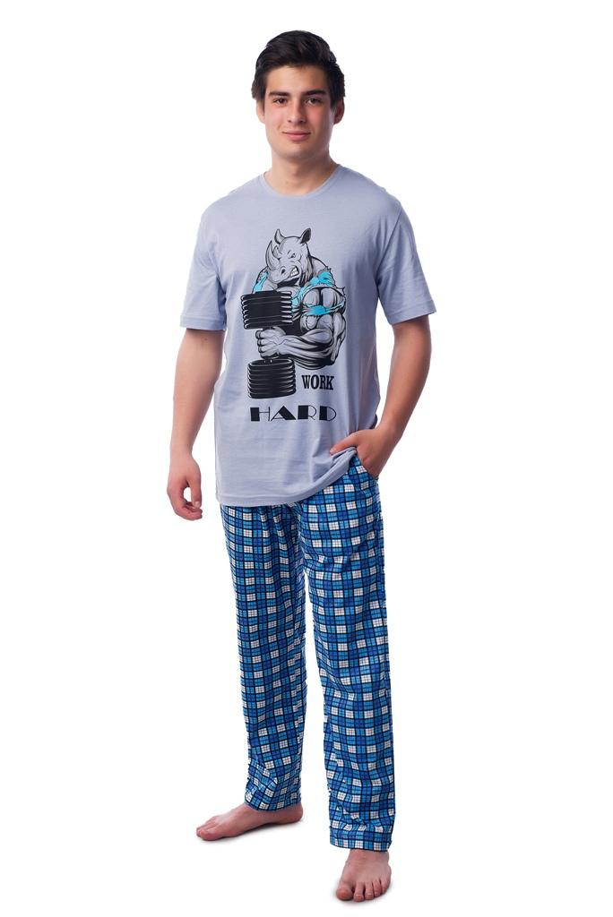 Муж. костюм арт. 16-0367 Серо-голубой р. 64 ЕленаТекс