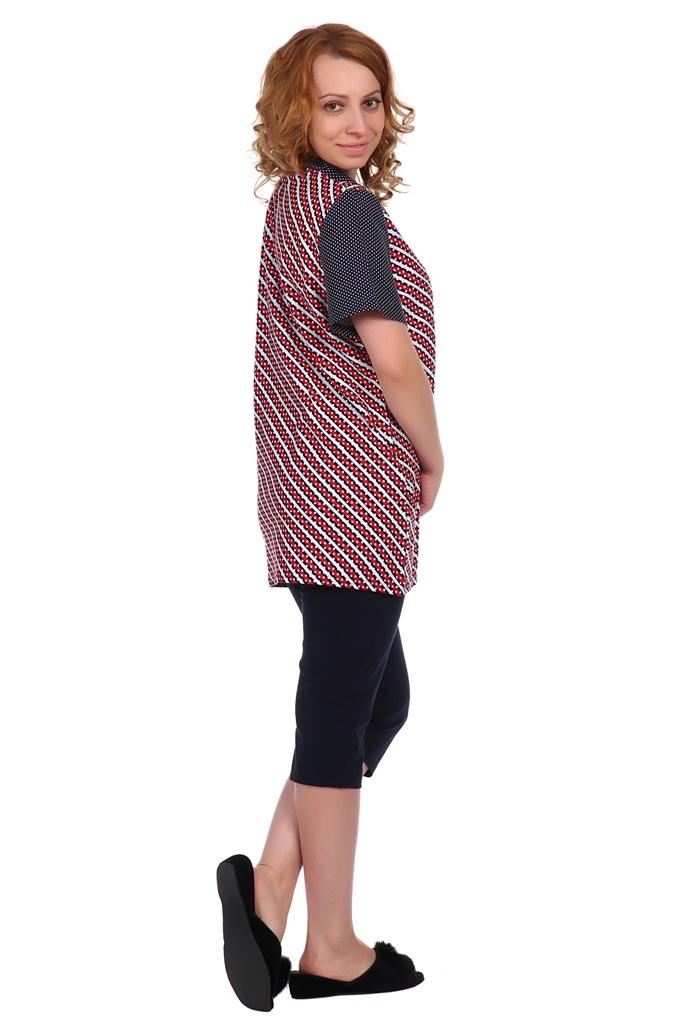 Жен. блуза арт. 16-0346 красный р.